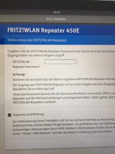 450e fritz wlan repeater