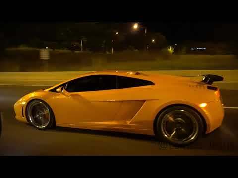 *FLYBYS AND FLAMES* Lamborghini Gallardo Titanium Exhaust (B-Rogue Straight Pipe)