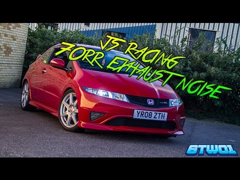 Honda Civic FN2 Type R J's Racing 70RR Exhaust System Noise
