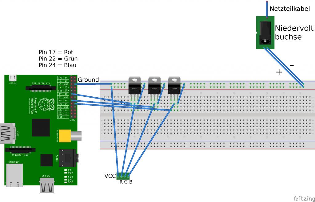 Anleitung: Raspberry Pi LED Strip ansteuern