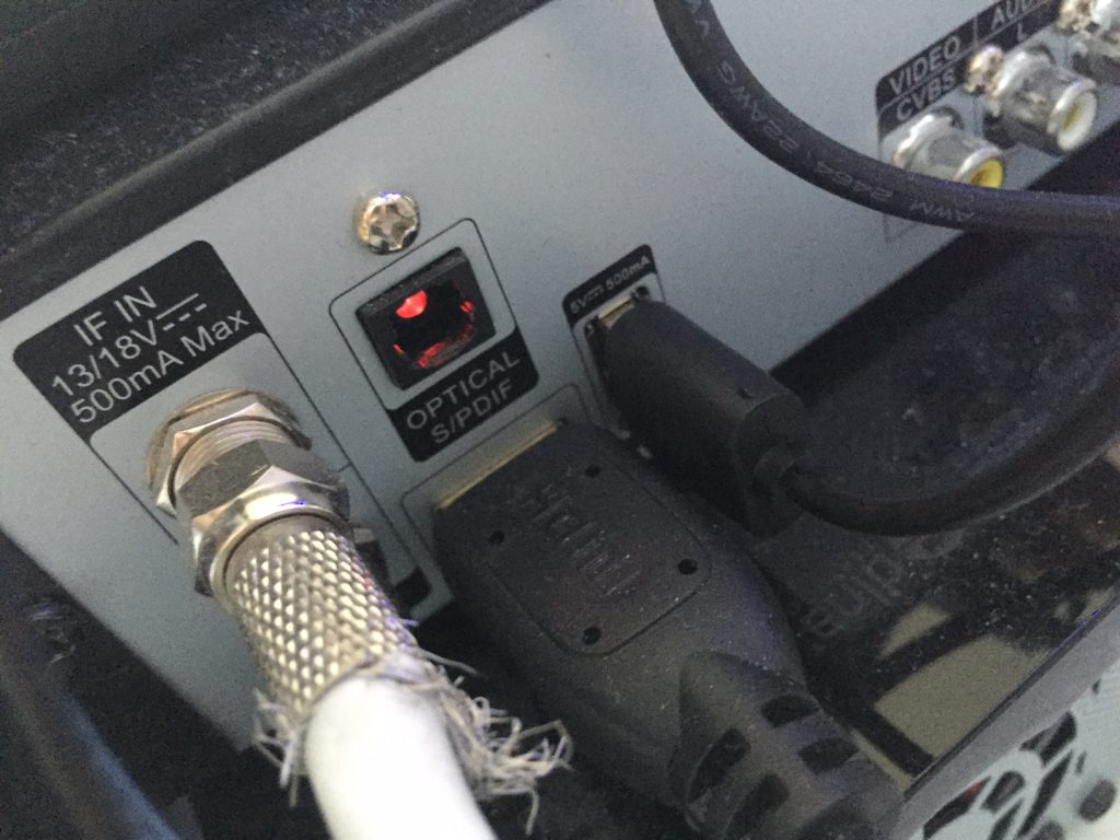 Receiver USB Anschluss zur Stromversorgung
