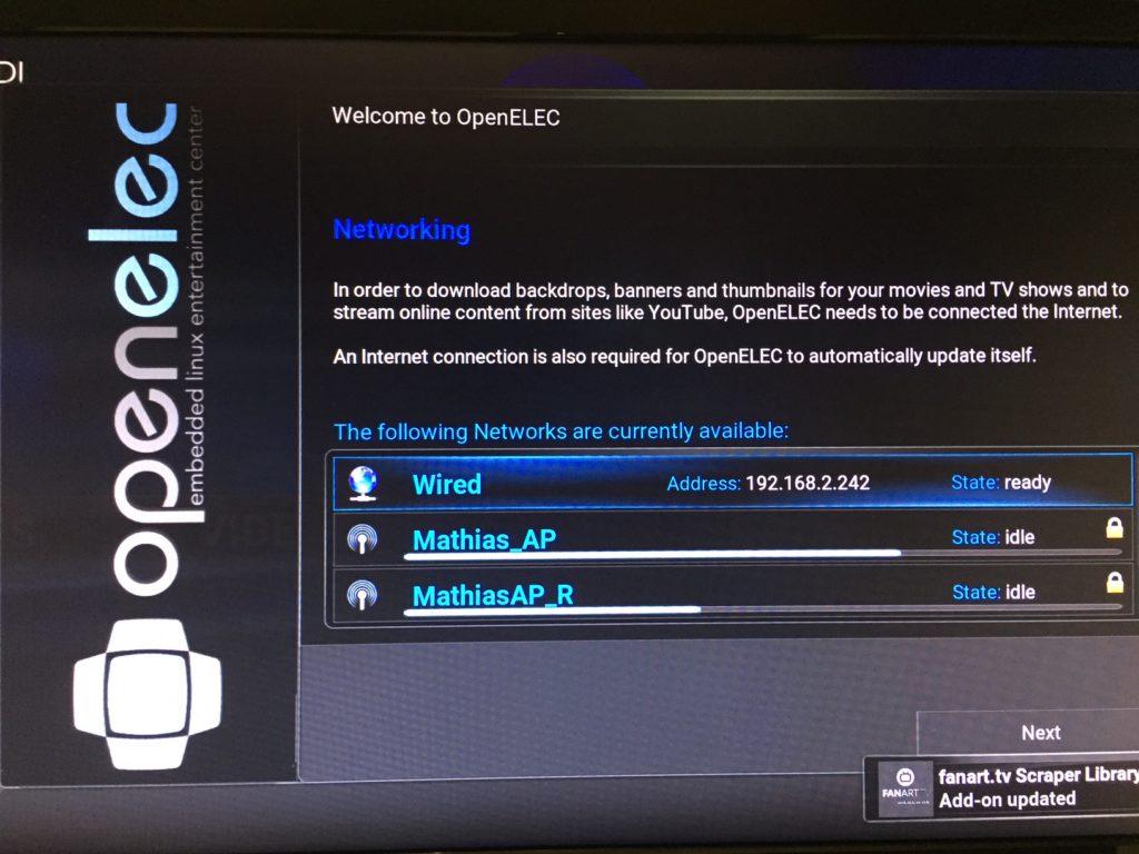 Raspberry Pi 3 - Install Kodi/OpenElec