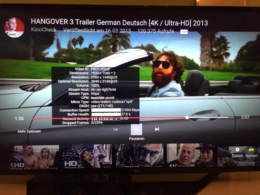 4k TV - Youtube bandwidth requirement (49UH620V)