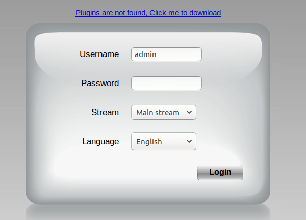 foscam Plugins are not found, Click me to download-does-not-work-can't-login