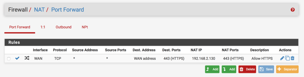 pfsense-configure-port-forwarding
