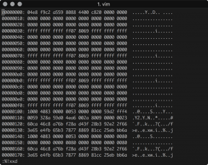 vim hex code