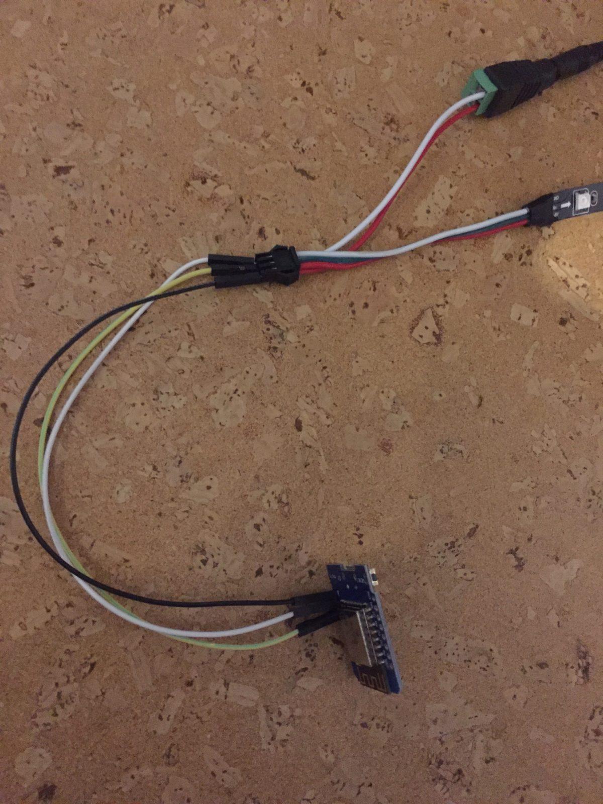 WS2812B über ESP8266 (WeMos D1 Mini) ansteuern
