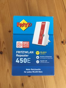 unboxing wlan repeater 450e zu lan
