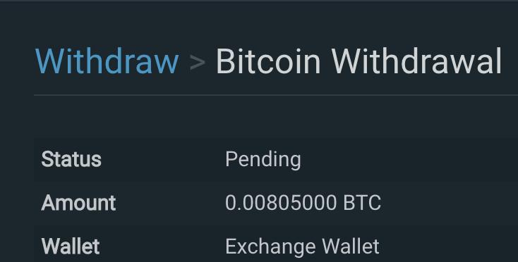 bitfinex withdrawl