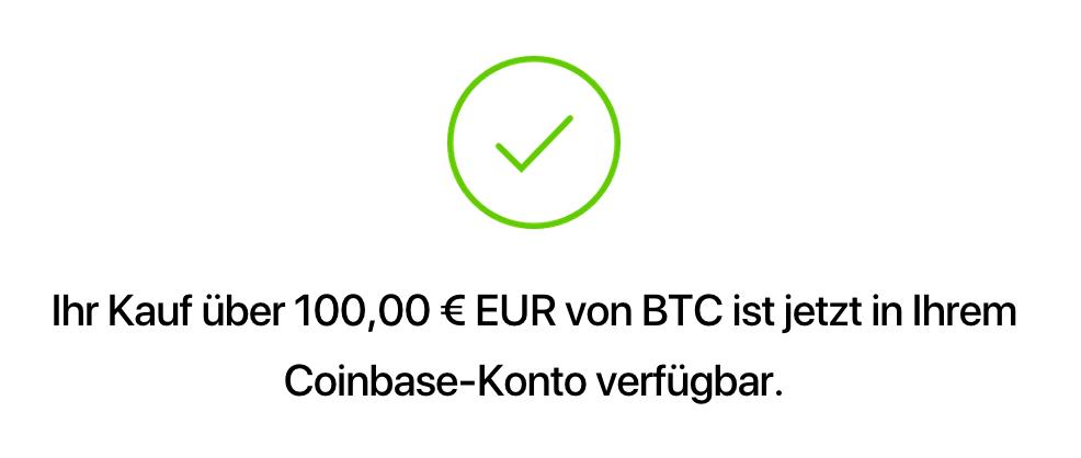 coinbase bitcoin btc kaufen
