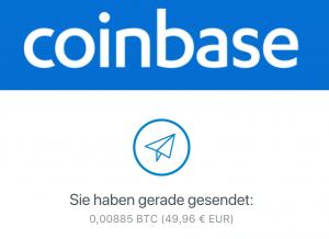 coinbase bitcoin senden