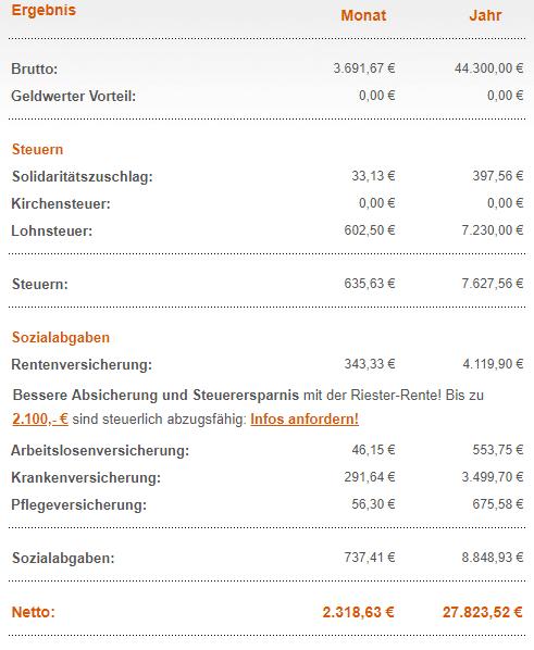 Gehalt Deutschland