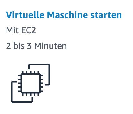 EC2 Virtuelle Maschine starten