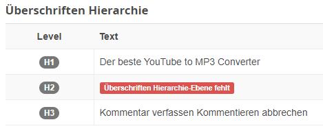Wordpress Kommentarfeld - h3 zu p