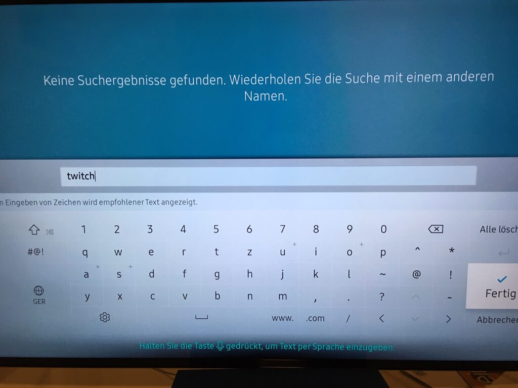 Twitch auf Samsung TV streamen