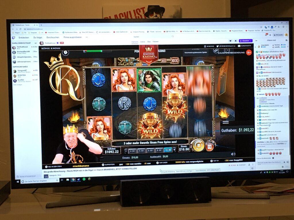 Der Desktop des PC's wird auf den Smart TV gestreamt