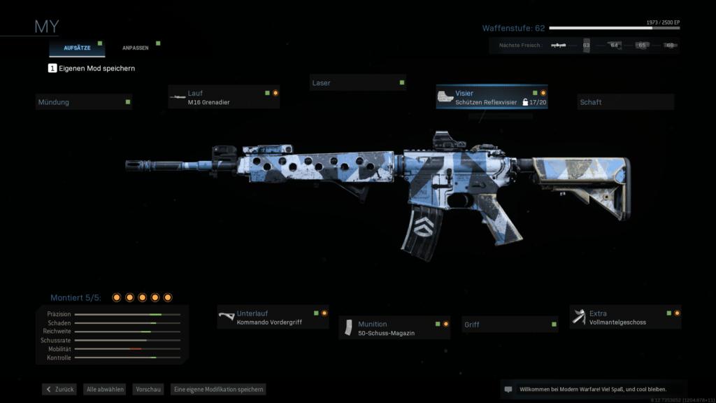 Modern Warfare M4A1 Beste Aufsätze