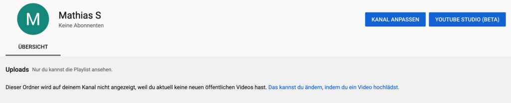 Komplett neuer YouTube Kanal anlegen