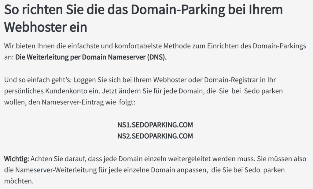 Domain bei Sedo verkaufen - Meine Erfahrung