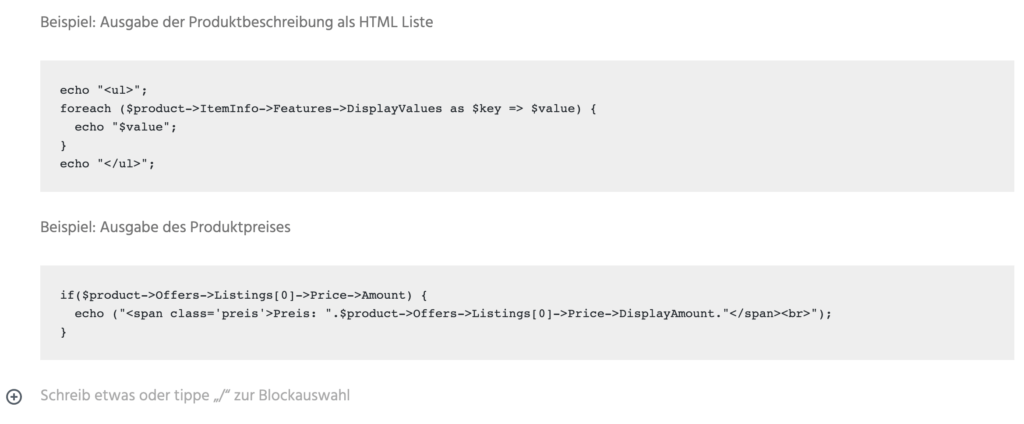 Wordpress HTML Code anzeigen