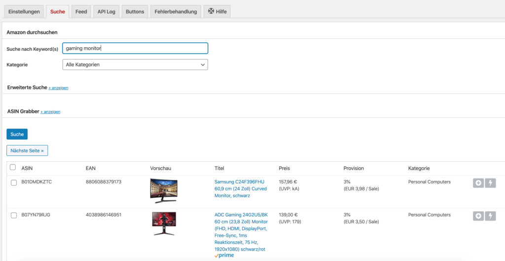 Affiliate Theme - Massenhaft Produkte einbinden 5