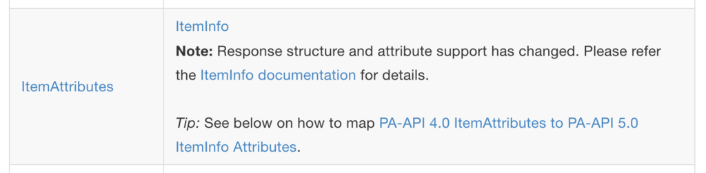 Amazon Product API 5.0 Umstellung 1