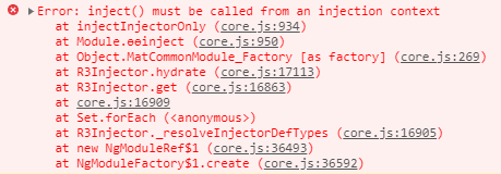 angular inject error