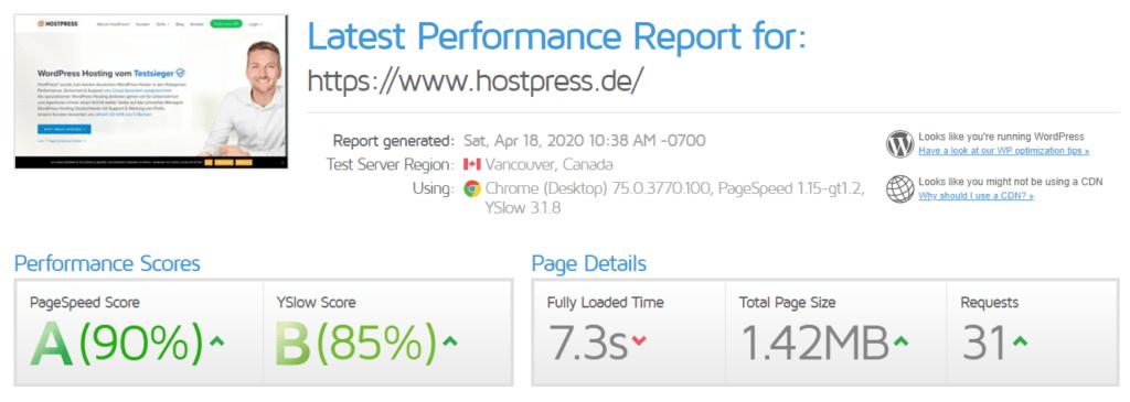 Hostpress vs Eigener Server 4