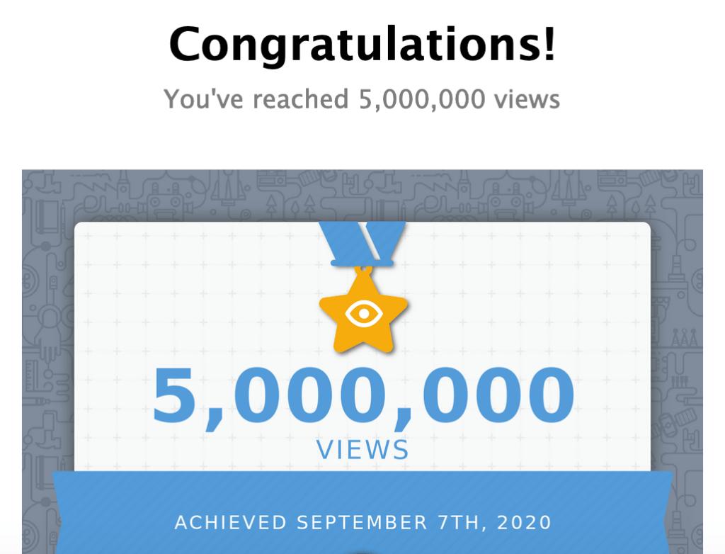 5 Millionen YouTube Klicks