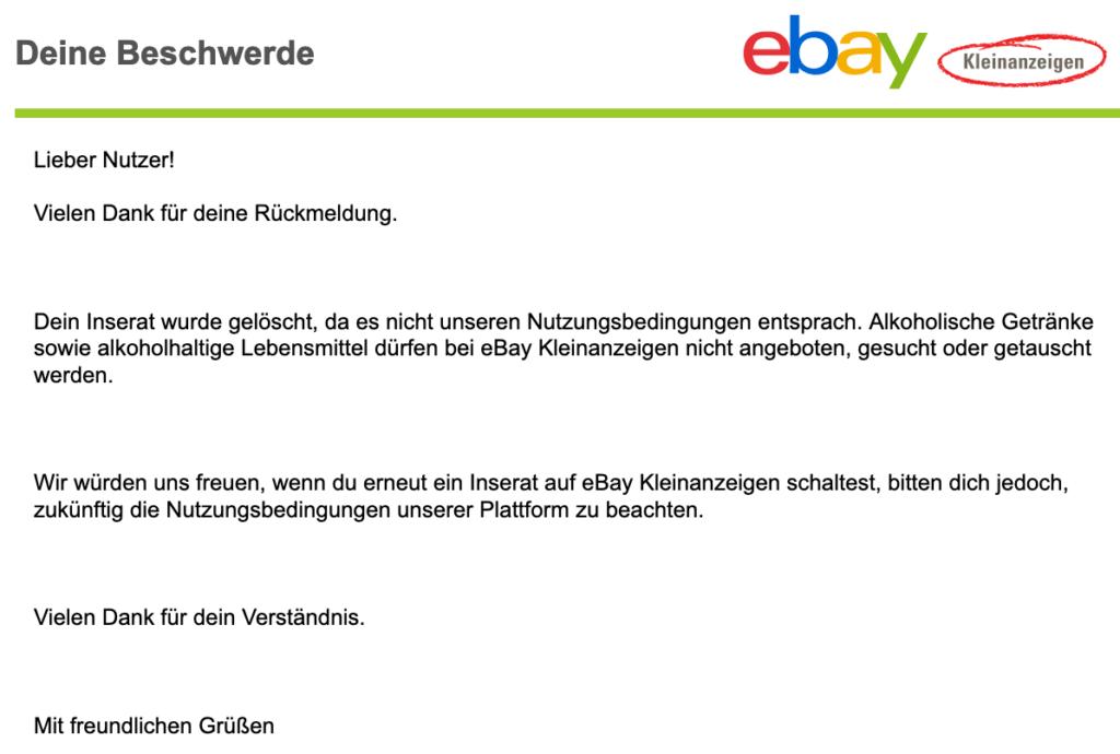 eBay Kleinanzeigen - Anzeige gelöscht 5