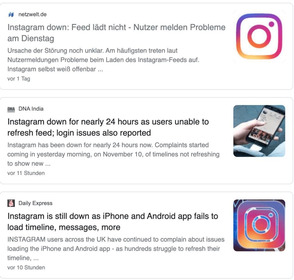 Instagram lädt nicht mehr