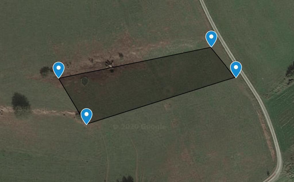 Eckpunkte / Koordinaten des Grundstücks
