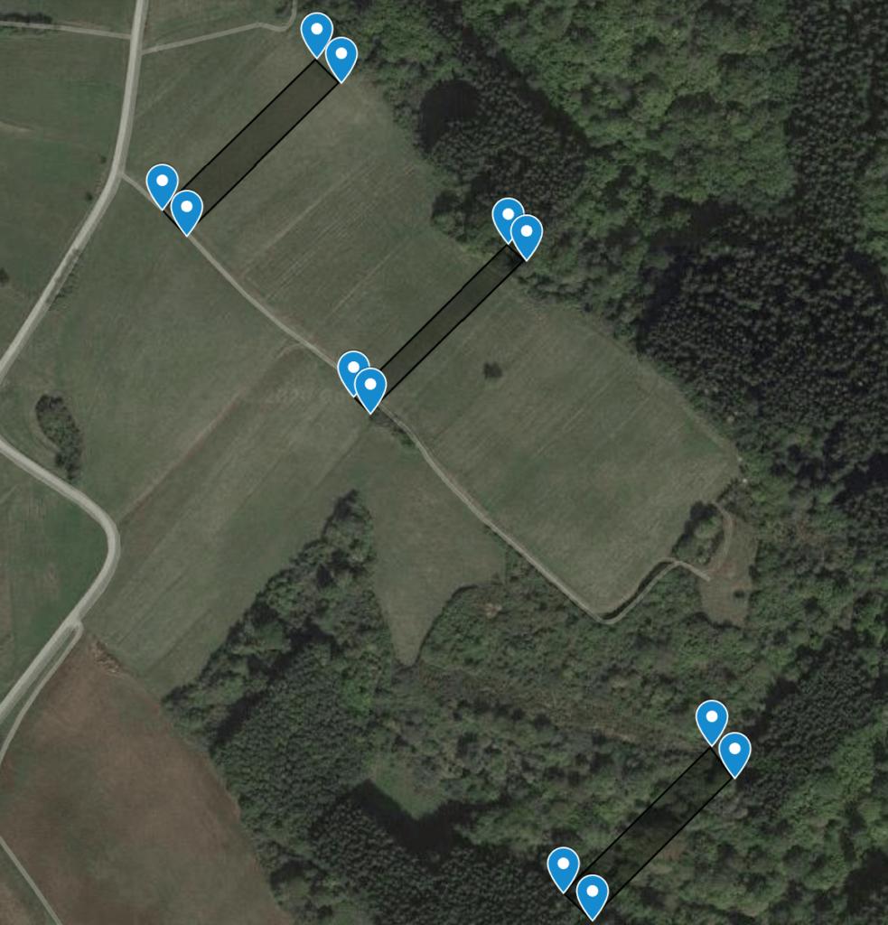 Mehrere Grundstücke in einer einzigen Karte