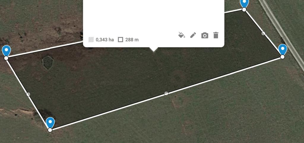 Größenbestimmung des Grundstücks und Umfang in Meter