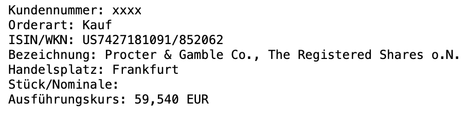 104% mit Procter & Gamble 1