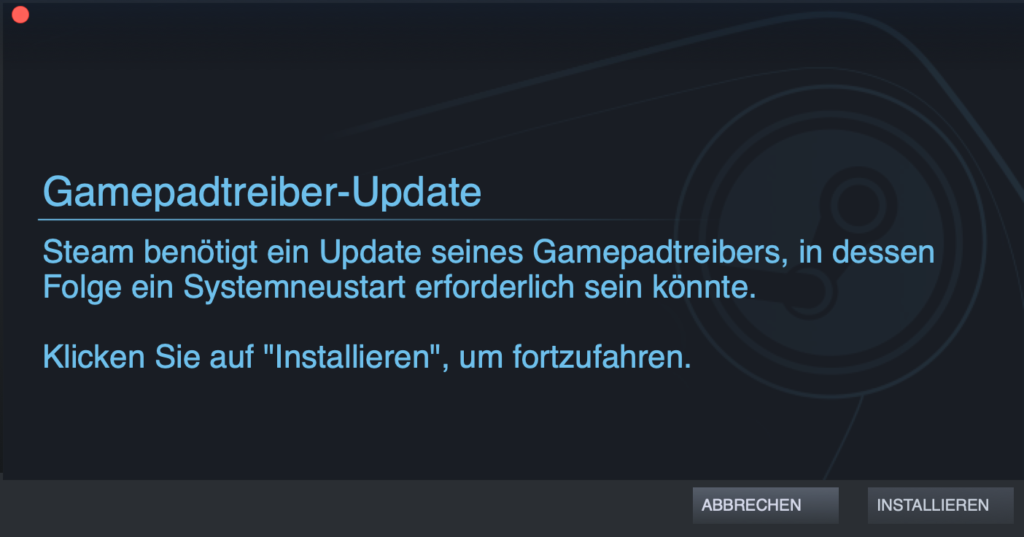 Steam-Gamepadtreiber-Update