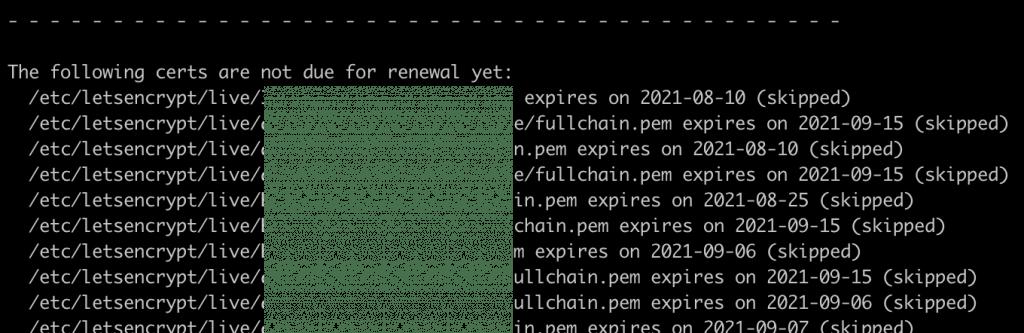 letsencrypt zertifikate automatisch erneuern