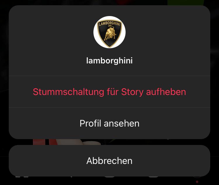 Instagram - Stummschaltung für Story aufheben
